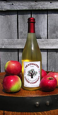 Bottle of Headwater Cider